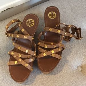 Tory Burch studded wooden sandals